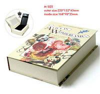 Мини сейф для денег в виде книги Алиса в стране чудес Alice in wonderland