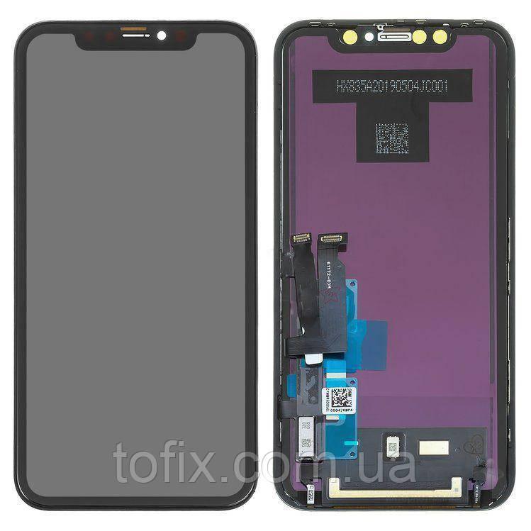 Дисплей для iPhone XR, модуль в сборе (экран и сенсор), с рамкой, Tianma, черный
