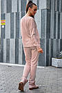 Персиковий костюм спортивний прогулянковий жіночий тринитка з люрексом, фото 7