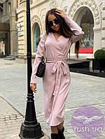 Платье халат с запахом миди, фото 1