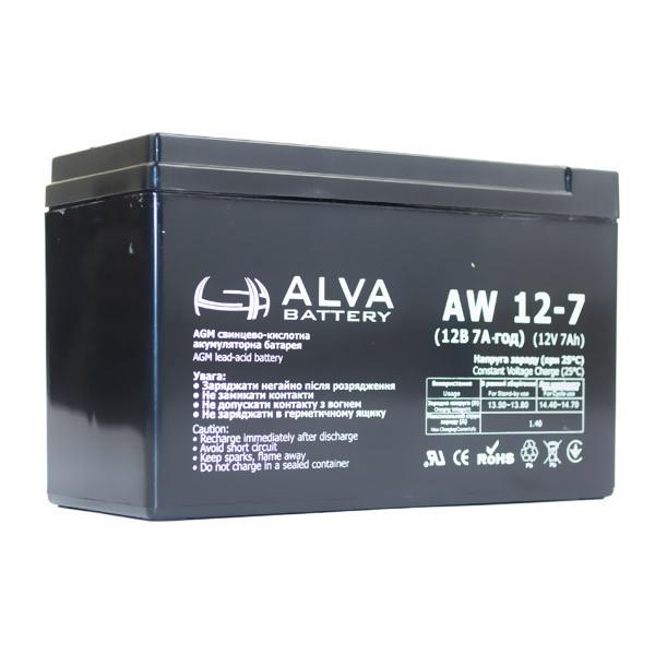 Аккумулятор AW 12-7 ALVA