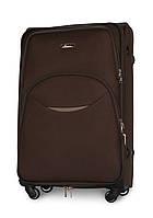 Большой дорожный чемодан 74х48х30 см Fly 1708 на 4 колесах Коричневый