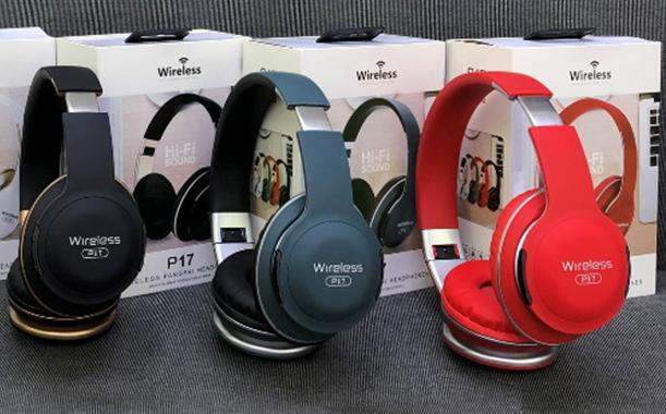 Беспроводные наушники P17 Wireless Headphone Вluetooth с FM и MP3, гарнитура