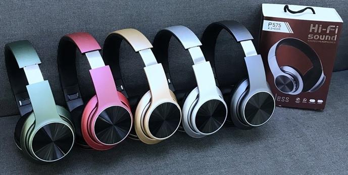 Беспроводные наушники P575 Wireless Headphone Вluetooth с FM и MP3, гарнитура блютуз