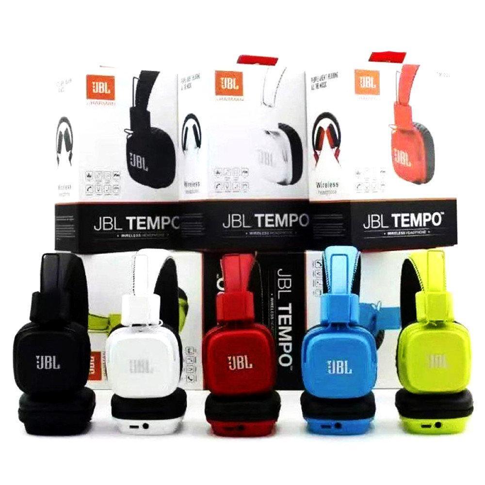 Беспроводные наушники JBL Tempo TM029 Вluetooth с FM и MP3, блютуз гарнитура жбл реплика