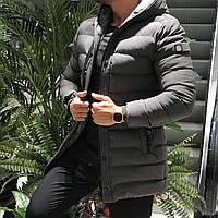 Мужская зимняя куртка удлиненная Kodbar 2 grey
