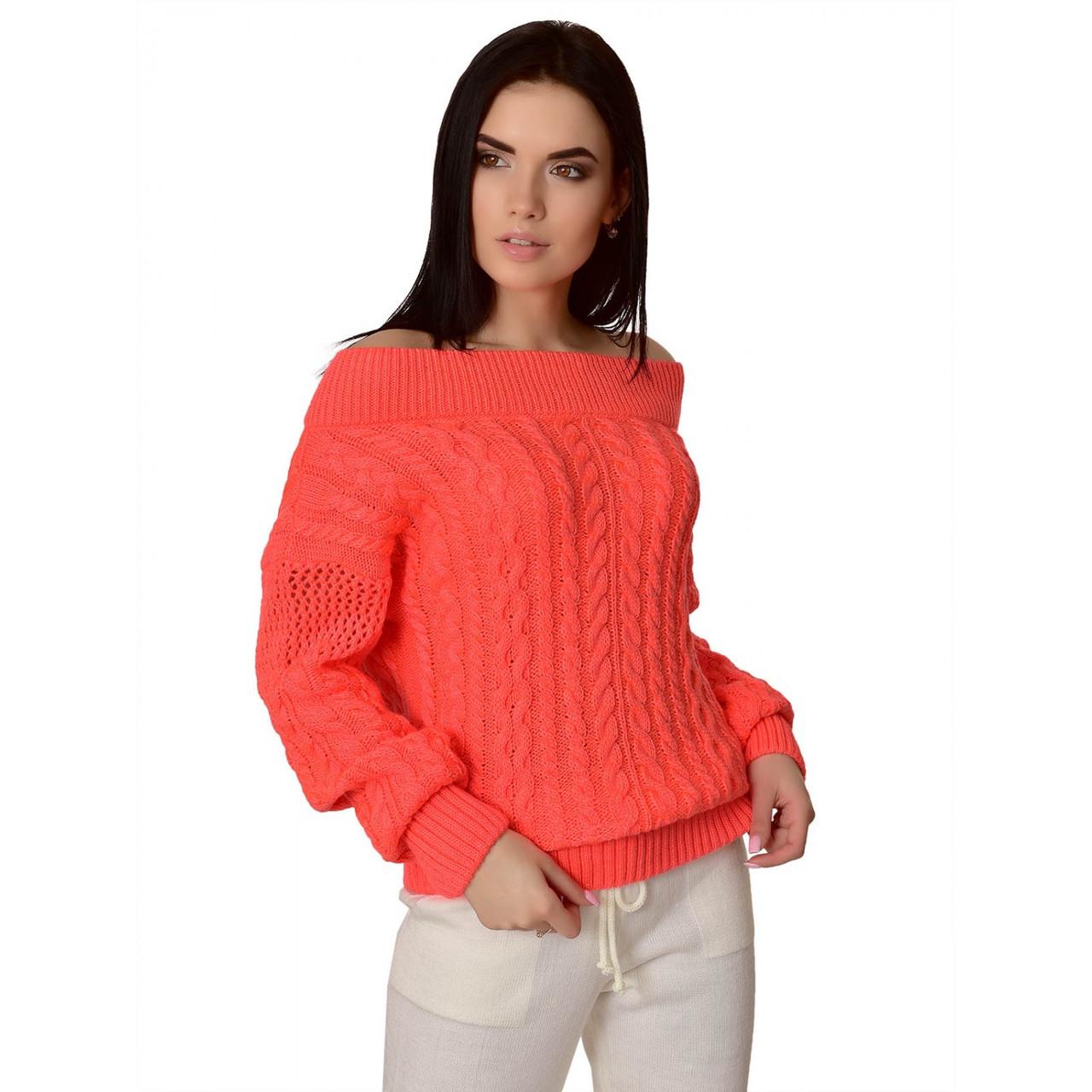 Вязаный женский свитер Фиби из шерсти и акрила