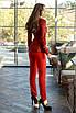 Женский брючный костюм Красный, фото 2