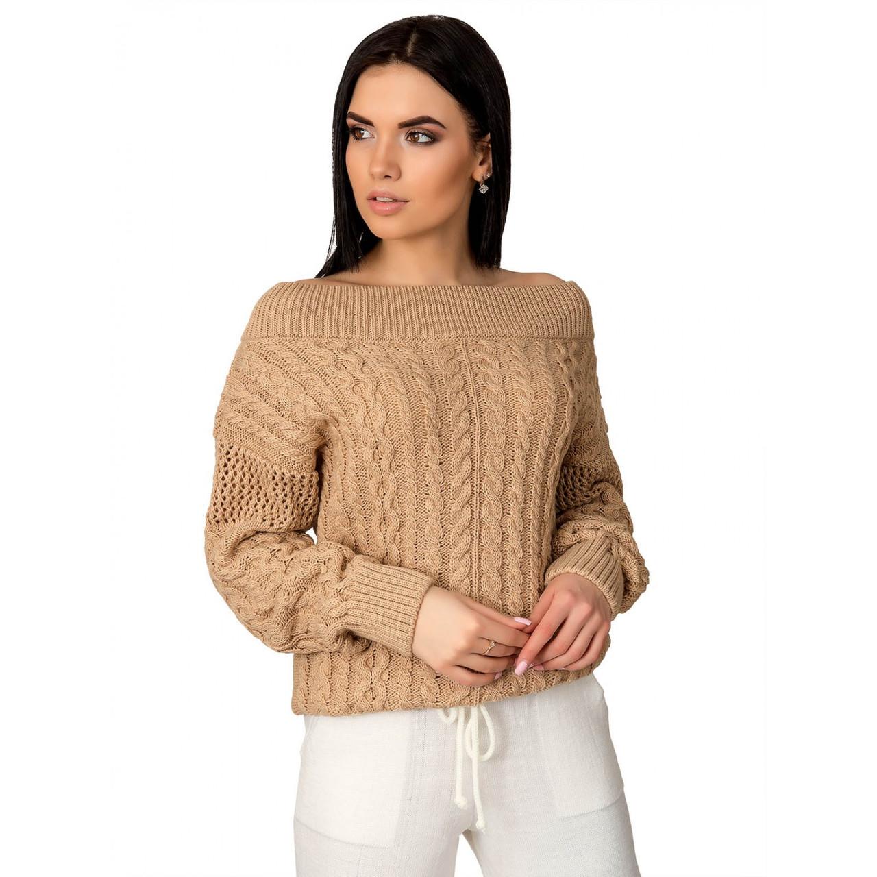 Вязаный женский свитер Фиби-1 из шерсти и акрила