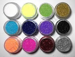 Декоративные блестки глиттер для ногтей нейл-арт набор 12 цветов