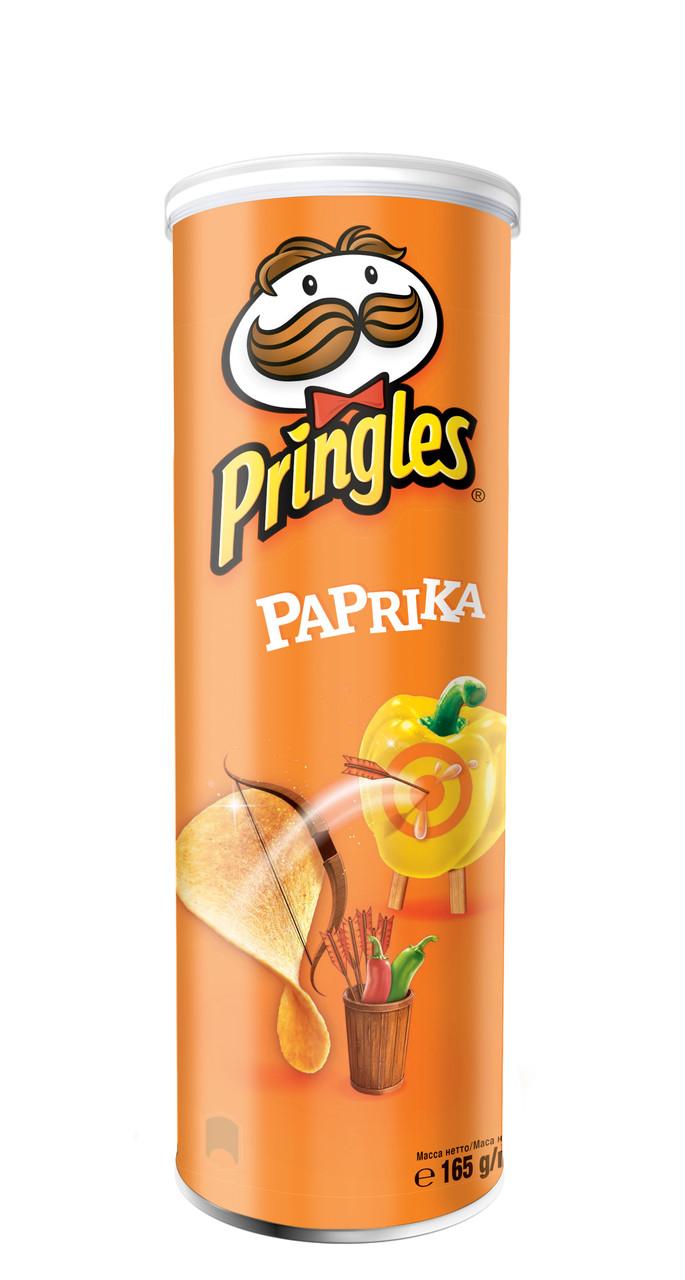 Чіпси Pringles Paprika, паприка, 165г, 19 шт/ящ
