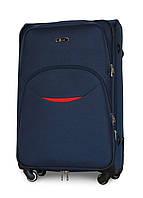 Большой дорожный чемодан 74х48х30 см Fly 1708 на 4 колесах Темно-синий
