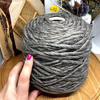 Толстая пряжа бейби альпака в бобине арт. SAYO от Exclusive Yarns Collection (Italy) 40м/100г цвет серый
