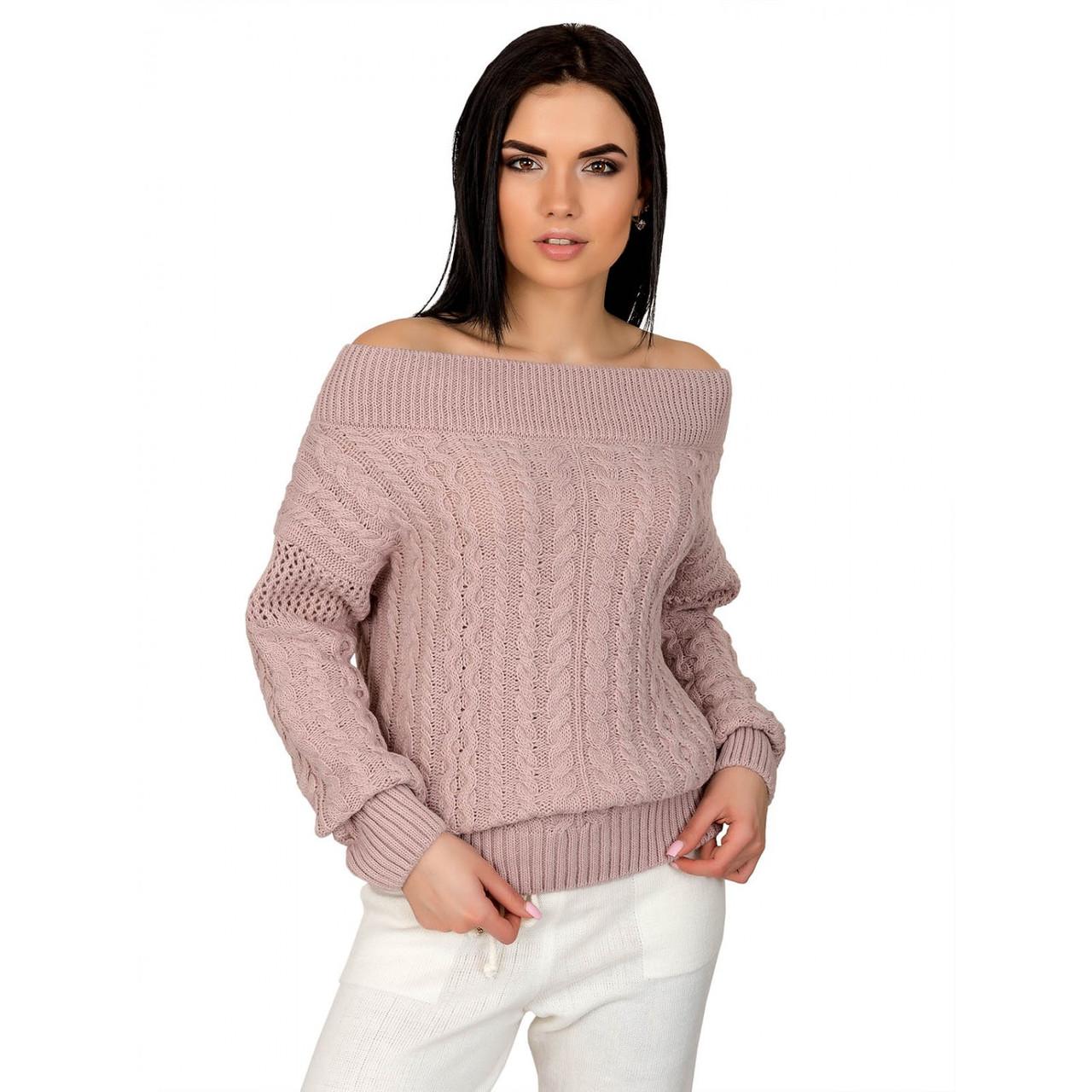 Вязаный женский свитер Фиби-5 из шерсти и акрила