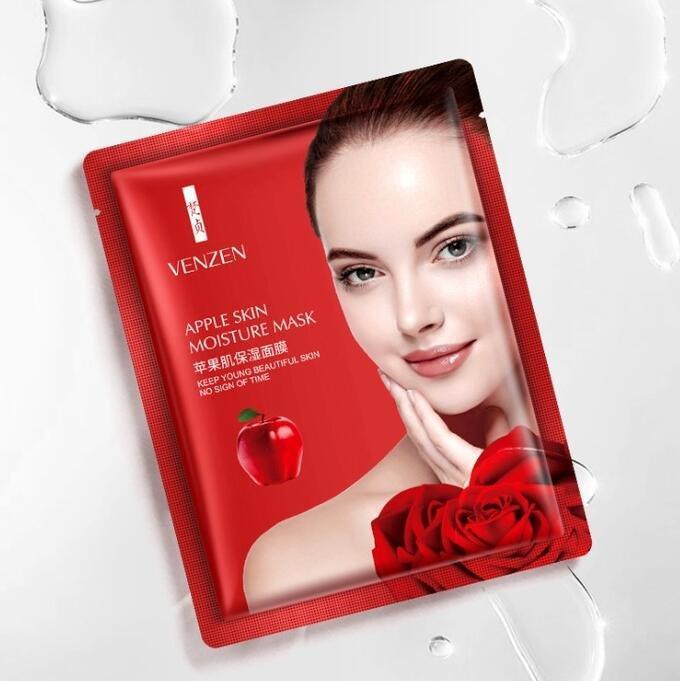 Увлажняющая маска для лица c экстрактом яблоко Venzen Apple Skin