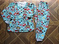 Детская пижама  коттон на байке для девочек с куклами LOL Украина    98- 104   см