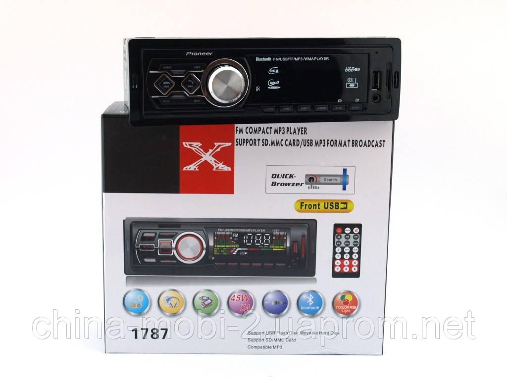 Pioneer 1788BT car MP3 190W  4*45W  копия, FM автомагнитола с bluetooth