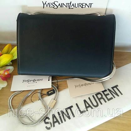 Сумочка-клатч брендовый черный, фурнитура серебро, в коробке, фото 3