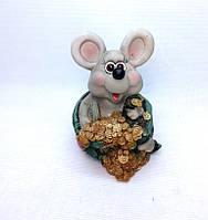 Копилка Мышь 16х12,5 см, Копилка мышь, подарок на Новый Год 2020, копилка символ Нового Года