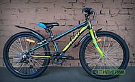 "Велосипед 24"" Avanti Sprinter V-Brake подростковый чёрно-зелёный"