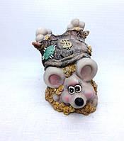 Копилка Мышь 13,5х10 см, Копилка мышь, подарок на Новый Год 2020, копилка символ Нового Года