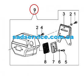 Глушитель (Оригинал) для бензопилы Oleo-Mac 965 HD