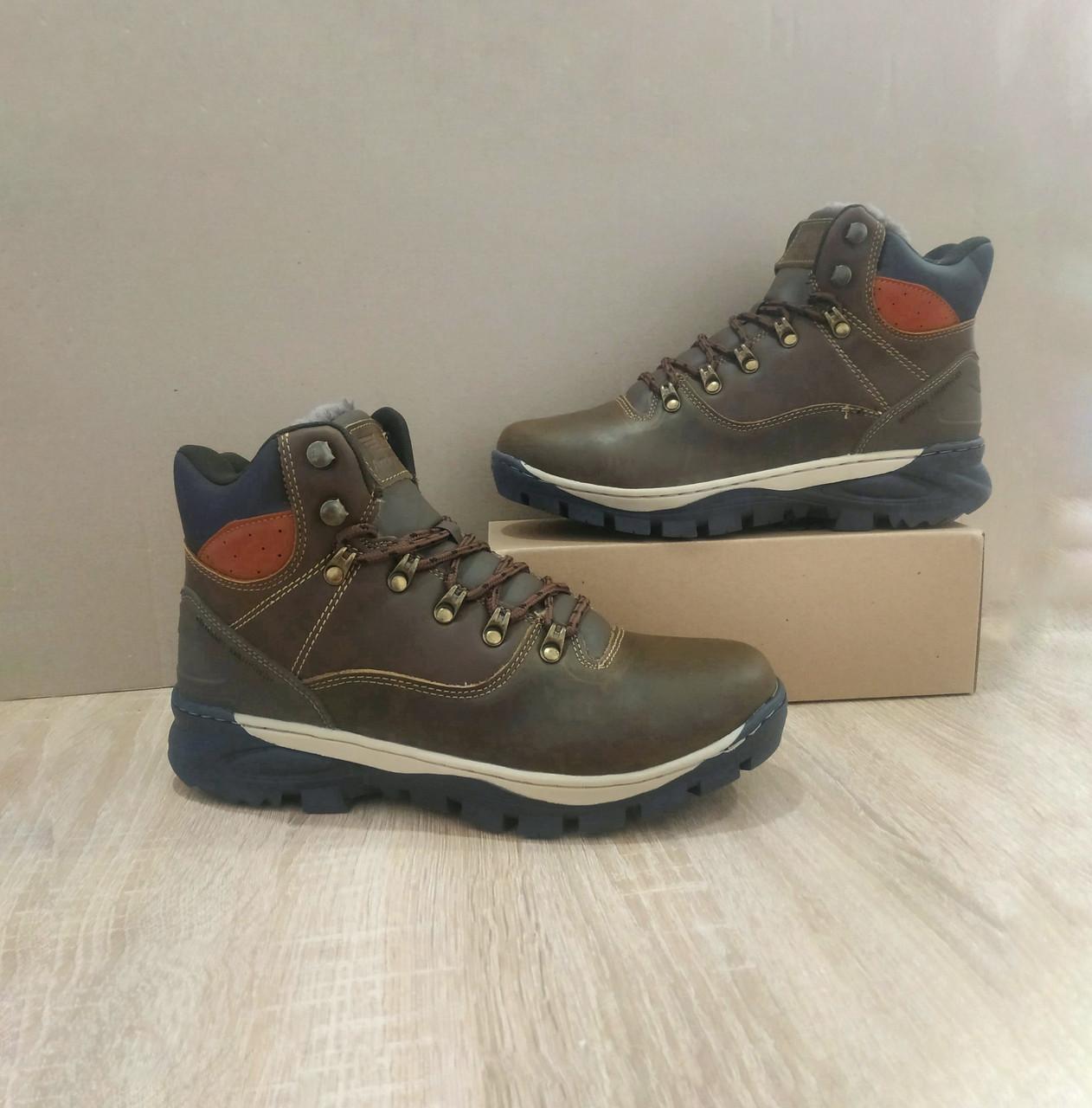 Натуральна шкіра зимові чоловічі черевики ARRIGO BELLO темно - коричневі 43р, 44р високі черевики