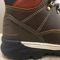 Натуральна шкіра зимові чоловічі черевики ARRIGO BELLO темно - коричневі 43р, 44р високі черевики, фото 2