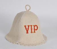Шапка для бани и сауны войлочная VIP