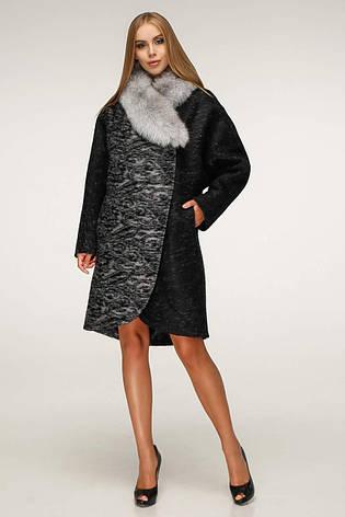 Пальто женское зимнее П-1212 н/м Сashimire Тон 4 | 44-58р. натуральный мех, фото 2