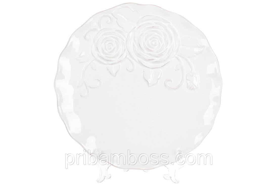 Тарелка обеденная керамическая Аэлита, цвет - белый, 26см 3 шт.