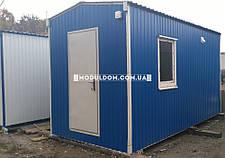 Вагончик под душевые кабинки, мобильный (4 х 2.4 м.), 2 умывальника, на основе цельно-сварного металлокаркаса., фото 2