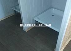 Вагончик под душевые кабинки, мобильный (4 х 2.4 м.), 2 умывальника, на основе цельно-сварного металлокаркаса., фото 3