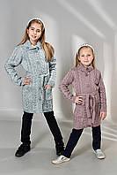 Детский вязаный кардиган с косами для девочки, фото 1