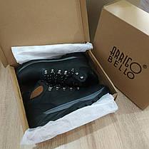 Натуральная кожа зимние мужские ботинки ARRIGO BELLO черные 41р-46р кожаные высокие ботинки, фото 2