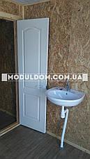 Вагончик санитарный, мобильный (4 х 2.4 м.) с отдельной душкабиной и санузлом, на  металлокаркаса., фото 2