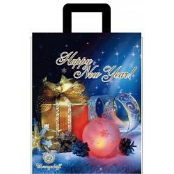 Новогодний пакет с петлевой ручкой Подарок 250*300, 10 шт
