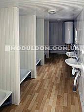 Вагончик санитарный (6 х 2.4 м.), душевые кабинки 5 шт., на основе цельно-сварного металлокаркаса., фото 2