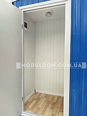 Вагончик санитарный (6 х 2.4 м.), душевые кабинки 5 шт., на основе цельно-сварного металлокаркаса., фото 3