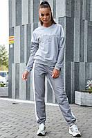 Стильный женский спортивный костюм, р. от 42 до 52, двунитка, серый