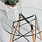 Круглый стол Имз прозрачный D80 см на буковых ножках от SDM Grouр, фото 3