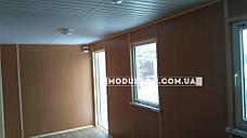 Вагончик для строителей (6 х 2.4 м.) c внутренней отделкой ЛДСП, на основе цельно-сварного металлокаркаса., фото 3