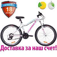 """Легкий женский велосипед горный 26"""" Formula MYSTIQUE 2.0 2019 (бело-голубой с фиолетовым, рама 16"""")"""