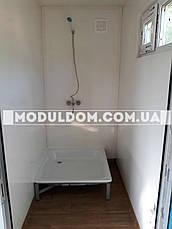Вагончик для жилья (6 х 2.4 м.) с оборудованным санузлом, душевой, комнатой отдыха ПОД КЛЮЧ, фото 3