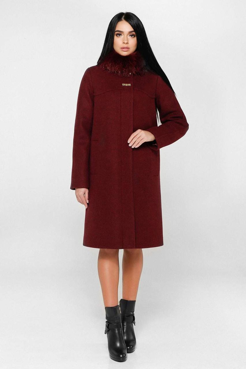 Пальто женское зимнее  П-990 н/м Шерсть пальтовая 113-1712 Тон 14   46, 50, 56р.