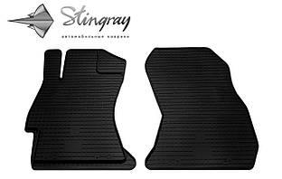Subaru Legacy  2006- Комплект из 2-х ковриков Черный в салон