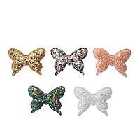 """Патчи """"Бабочка, бабочки"""" с крупным глиттером из экокожи (кожзама) 4 см 1 шт (цвет на выбор)"""
