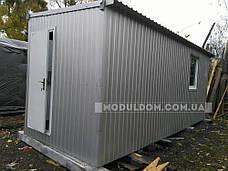 Вагончик 2-х модульный (6 х 4.8 м.), для производства, офиса, штабной, на основе металлокаркаса., фото 2