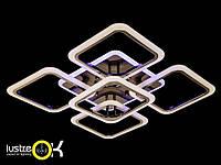 Акриловая люстра Люстра светодиодная потолочная A8060/4+1BHR LED 3color dimmer