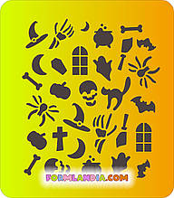 Трафарет для пряников Хэллоуин №17
